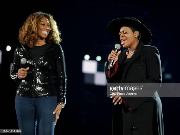 Yolanda Adams, Fantasia, and Andra Day perform a tribute to Aretha Franklin during rehearsals at THE 61ST ANNUAL GRAMMY AWARDS, broadcast live from...