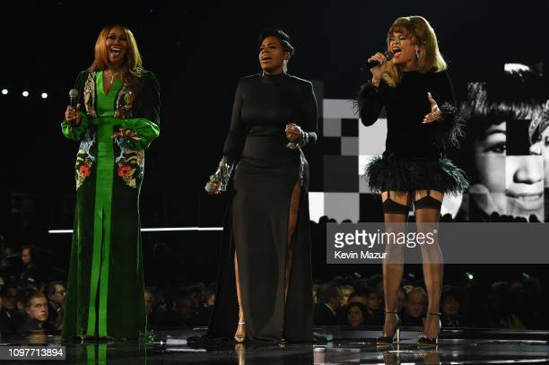 Yolanda Adams Fantasia and Andra Day perform onstage during the 61st Annual GRAMMY Awards at Staples Center on February 10 2019 in Los Angeles...