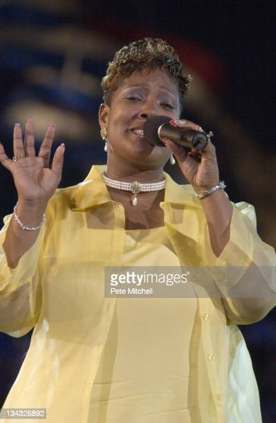 Yolanda Adams performs during A Capitol Fourth 2004 Concert Rehearsal at West Lawn US Capitol in Washington DC United States