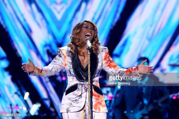 Yolanda Adams performs during the 2019 Soul Train Awards at the Orleans Arena on November 17 2019 in Las Vegas Nevada