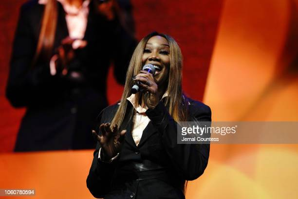 NOVEMBER 12 Yolanda Adams performs on stage during Peace Starts With Me concert at Nassau Coliseum on November 12 2018 in Uniondale New York