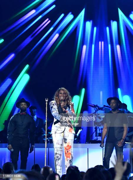 Yolanda Adams performs onstage at the 2019 Soul Train Awards presented by BET at the Orleans Arena on November 17 2019 in Las Vegas Nevada