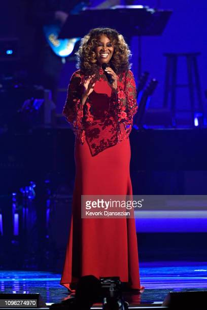 Yolanda Adams performs onstage during MusiCares Person of the Year honoring Dolly Parton at Los Angeles Convention Center on February 8 2019 in Los...