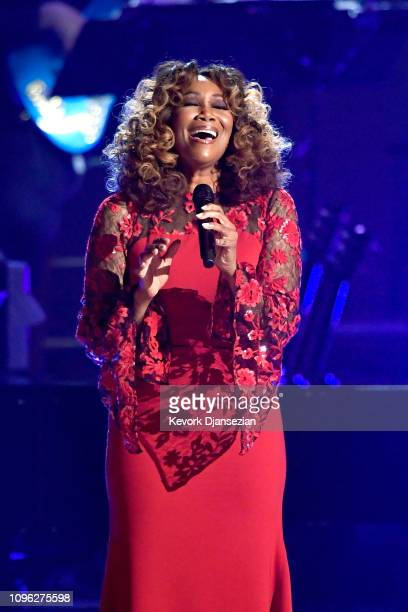 Yolanda Adams performs onstage during MusiCares Person of the Year honoring Dolly Parton at Los Angeles Convention Center on February 8, 2019 in Los...