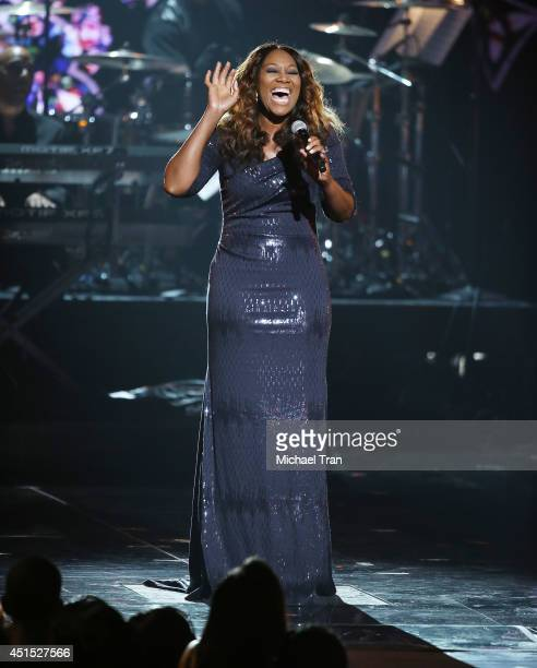 Yolanda Adams performs onstage during the BET AWARDS 14 held at Nokia Theater LA LIVE on June 29 2014 in Los Angeles California