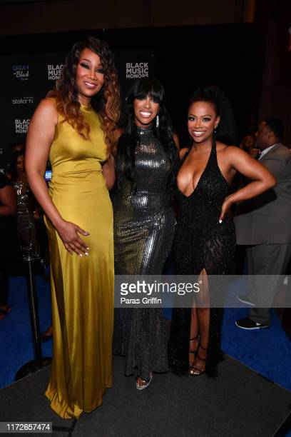 Yolanda Adams, Porsha Williams, and Kandi Burruss attend 2019 Black Music Honors at Cobb Energy Performing Arts Centre on September 05, 2019 in...
