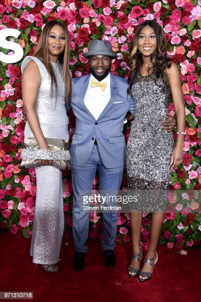 Yolanda Adams Rodney East and Taylor Ayanna Crawford attend the 72nd Annual Tony Awards on June 10 2018 in New York City