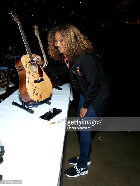 Yolanda Adams with the charity signings during MusiCares Person of the Year honoring Dolly Parton at Los Angeles Convention Center on February 07,...