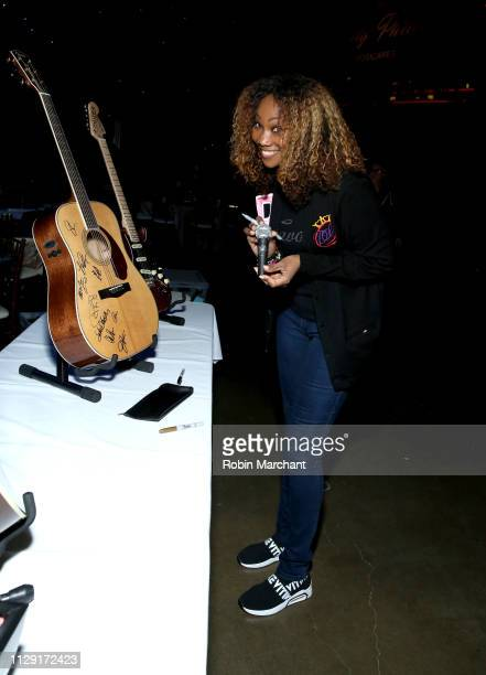 Yolanda Adams with the charity signings during MusiCares Person of the Year honoring Dolly Parton at Los Angeles Convention Center on February 07...