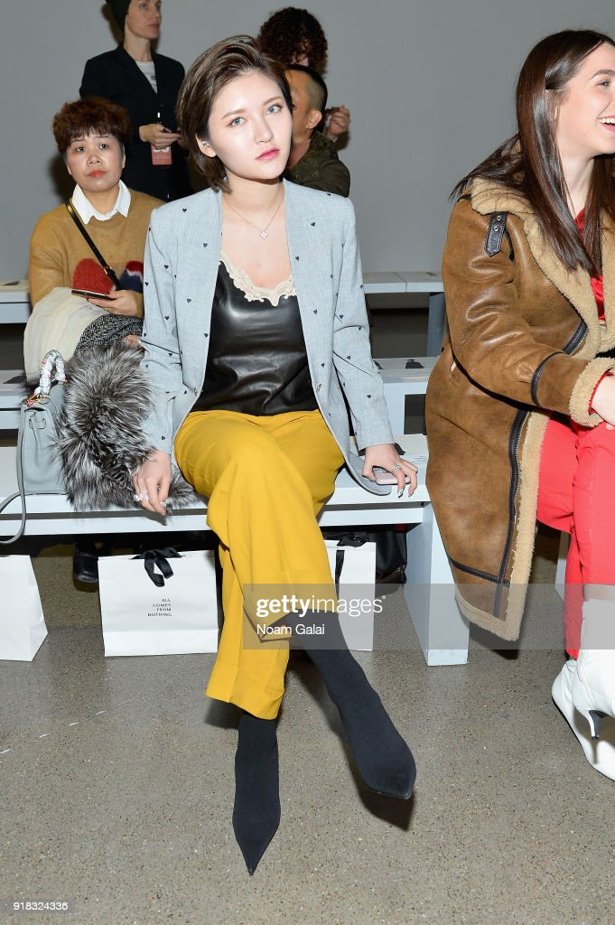 Yolanda attends the All Comes From Nothing x COOME FW18 show at Gallery II at Spring Studios on February 14, 2018 in New York City.