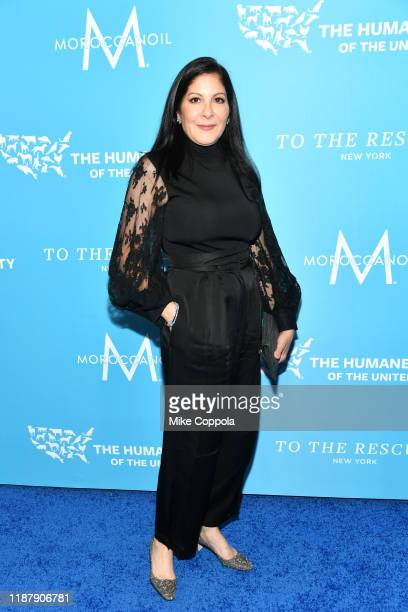 Yolanda Berkowitz arrives to the Humane Society Of The United States To The Rescue New York Gala 2019 at Cipriani 42nd Street on November 15 2019 in...