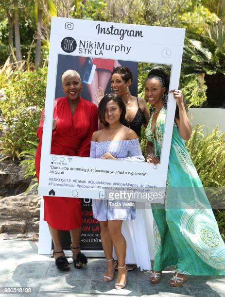 Yolanda Braddy Jamie Tahan Niki Murphy and Latreal Mitchell attend the summer season kickoff 2018 party hosted by Nicole Murphy Ludacris and Tichina...