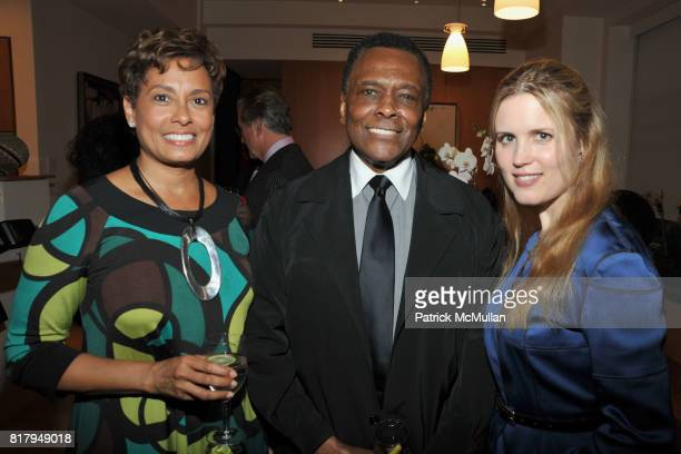 Yolanda Ferrell Brown Arthur Mitchell and Christine Corcoran attend Laura and Richard Parsons Host the Celebration of The AMERICAN FOLK MUSEUM'S...