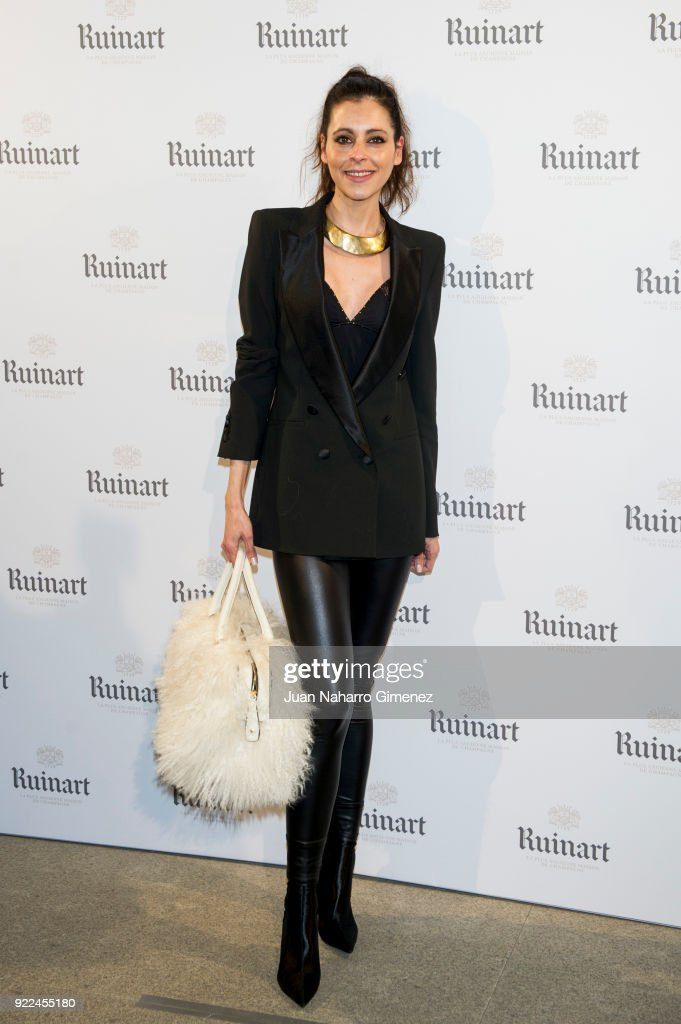 Yolanda Font attends the celebration of the new ARCO edition with Ruinart at Marlborough Garelly on February 21, 2018 in Madrid, Spain.