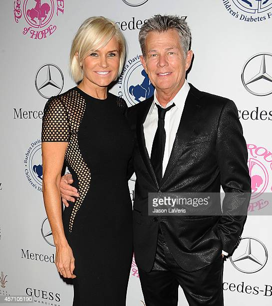 Yolanda Foster and David Foster attend the 2014 Carousel of Hope Ball at The Beverly Hilton Hotel on October 11 2014 in Beverly Hills California
