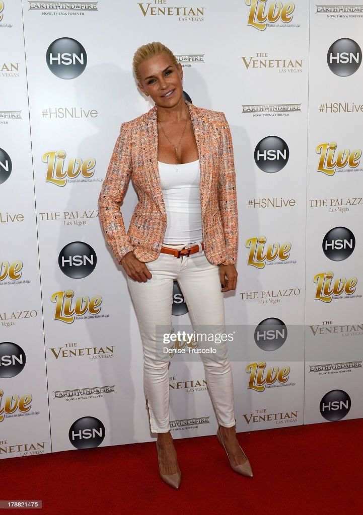 Yolanda Foster arrives at HSN Live broadcast special featuring Earth, Wind & Fire at The Venetian Las Vegas on August 30, 2013 in Las Vegas, Nevada.