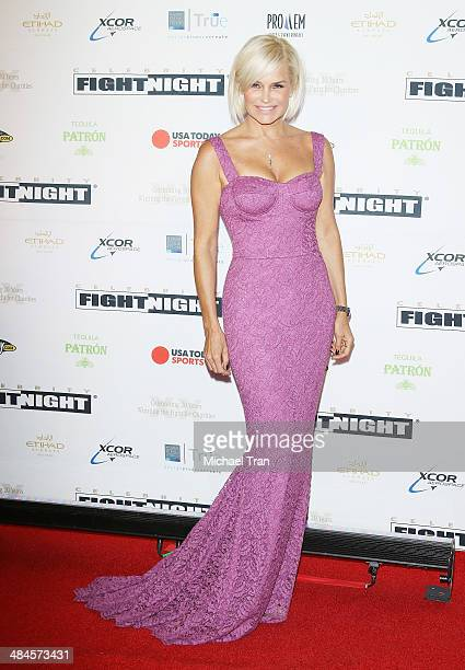 Yolanda Foster arrives at the Celebrity Fight Night XX held at JW Marriott Desert Ridge Resort Spa on April 12 2014 in Phoenix Arizona