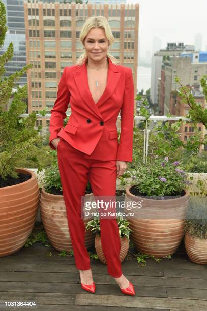 Yolanda Foster attends the Oscar De La Renta front Row during New York Fashion Week The Shows at Spring Studios Terrace on September 11 2018 in New...