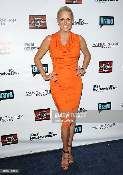 Yolanda Foster attends the The Real Housewives of Beverly Hills and Vanderpump Rules premiere party at Boulevard3 on October 23 2013 in Hollywood...