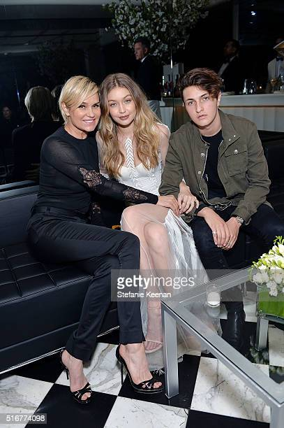 Yolanda Foster, model Gigi Hadid and Anwar Hadid attend Daily Front Row Fashion Los Angeles Awards Private Dinner hosted by Eva Chow and Carine...
