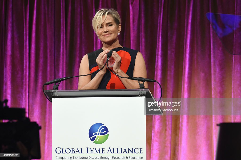 Yolanda Foster speaks onstage during the Global Lyme Alliance 'Uniting for a Lyme-Free World' Inaugural Gala at Cipriani 42nd Street on October 8, 2015 in New York City.