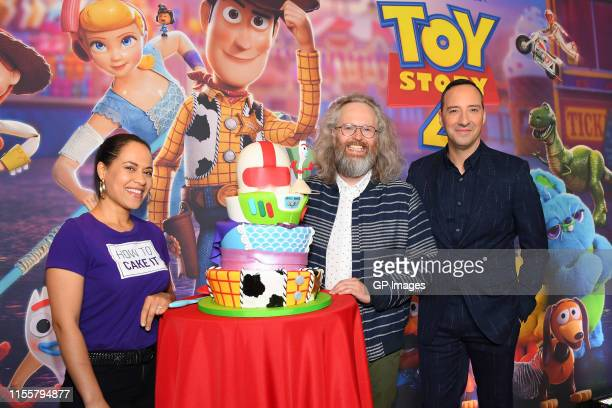 Yolanda Gampp Francois Bellefeuille and Tony Hale attend the 'Toy Story 4' Canadian Premiere held at Scotiabank Theatre on June 13 2019 in Toronto...