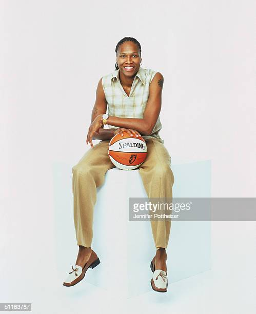 Yolanda Griffith of the Sacamento Monarchs poses for a WNBA Portrait at Westin Hotel on August 4 2004 in New York New York NOTE TO USER User...