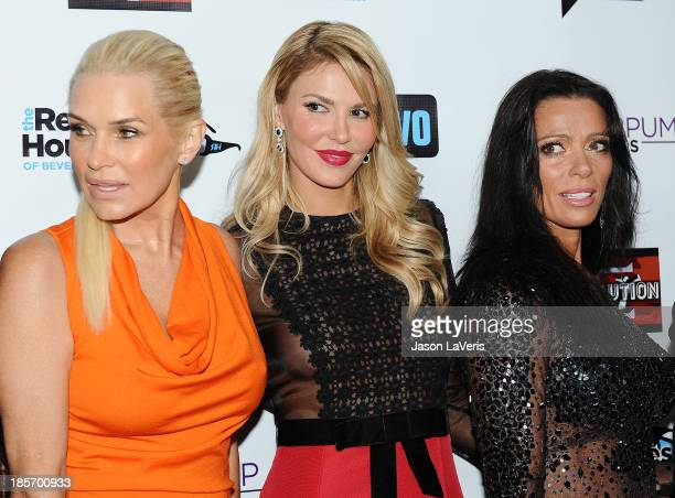 Yolanda H Foster Brandi Glanville and Carlton Gebbia attend the The Real Housewives of Beverly Hills and Vanderpump Rules premiere party at...