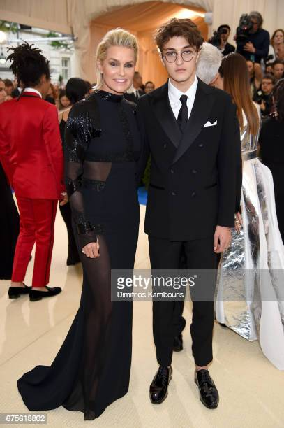 Yolanda Hadid and Anwar Hadid attend the 'Rei Kawakubo/Comme des Garcons Art Of The InBetween' Costume Institute Gala at Metropolitan Museum of Art...