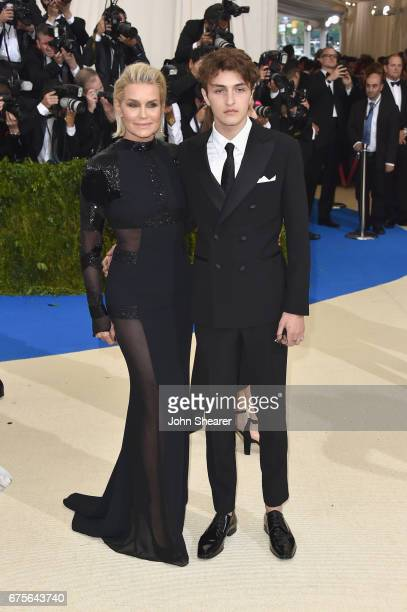 Yolanda Hadid and Anwar Hadid attend the Rei Kawakubo/Comme des Garcons Art Of The InBetween Costume Institute Gala at Metropolitan Museum of Art on...