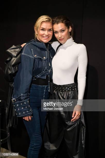 Yolanda Hadid and Bella Hadid pose backstage after the Prabal Gurung fashion show during New York Fashion Week: The Shows at Gallery I at Spring...