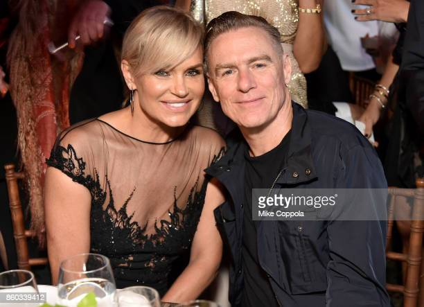 Yolanda Hadid and Bryan Adams attend the Global Lyme Alliance third annual New York City Gala on October 11, 2017 in New York City.
