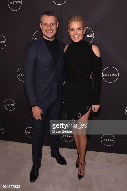 Yolanda Hadid and Luiz Mattos celebrate her birthday and the premiere of her new Lifetime show 'Making A Model With Yolanda Hadid' with friends and...