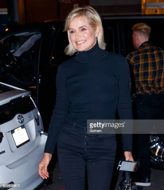Yolanda Hadid arrives at Bravo studios on October 10 2017 in New York City