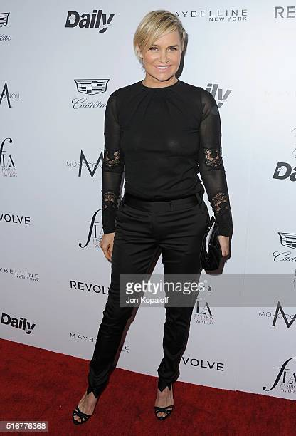 Yolanda Hadid arrives at The Daily Front Row 'Fashion Los Angeles Awards' 2016 at Sunset Tower Hotel on March 20 2016 in West Hollywood California