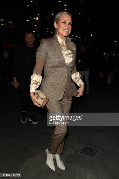 Yolanda Hadid attends a Love Magazine signing at Dover St Market during LFW February 2020 on February 17 2020 in London England