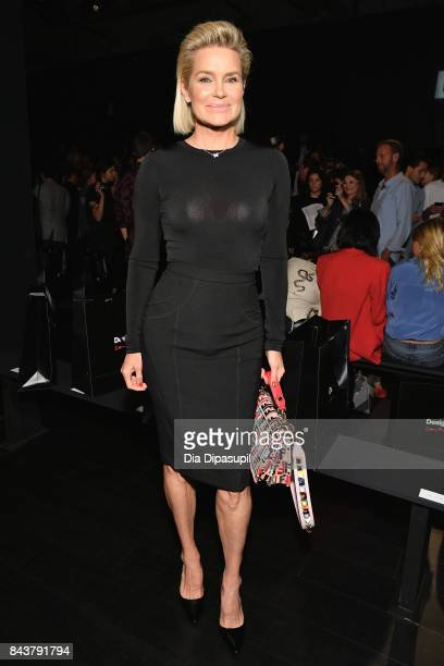 Yolanda Hadid attends Desigual fashion show during New York Fashion Week The Shows at Gallery 1 Skylight Clarkson Sq on September 7 2017 in New York...