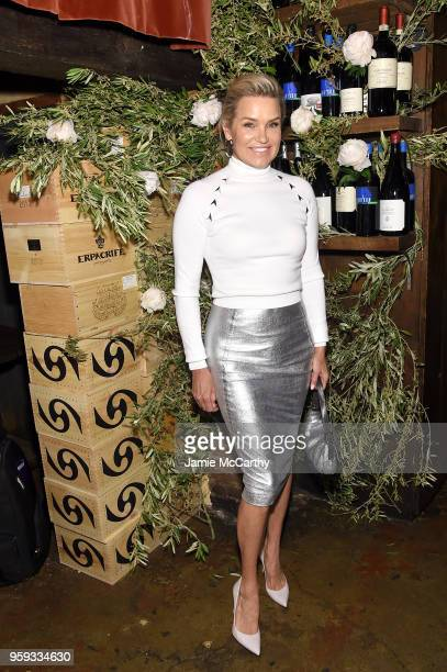 Yolanda Hadid attends ELLE x Stuart Weitzman celebration of Giovanni Morelli's debut collection for Stuart Weitzman hosted by Nina Garcia on May 16...