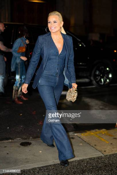 Yolanda Hadid attends Gigi Hadid's 24th Birthday at L'Avenue in Midtown on April 22 2019 in New York City