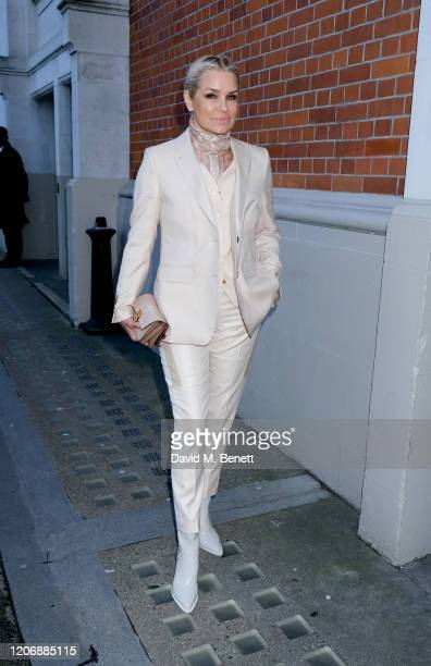 Yolanda Hadid attends the Burberry Autumn/Winter 2020 show during London Fashion Week on February 17, 2020 in London, England.