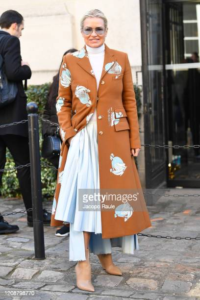 Yolanda Hadid attends the Lanvin show as part of the Paris Fashion Week Womenswear Fall/Winter 2020/2021 on February 26, 2020 in Paris, France.