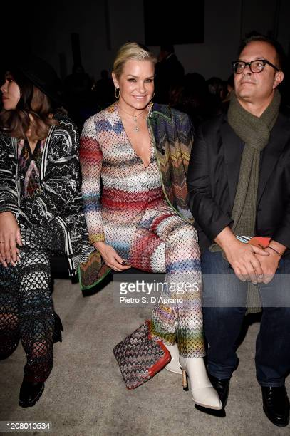 Yolanda Hadid attends the Missoni fashion show on February 22, 2020 in Milan, Italy.