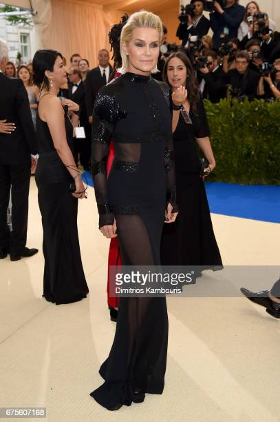 Yolanda Hadid attends the 'Rei Kawakubo/Comme des Garcons Art Of The InBetween' Costume Institute Gala at Metropolitan Museum of Art on May 1 2017 in...