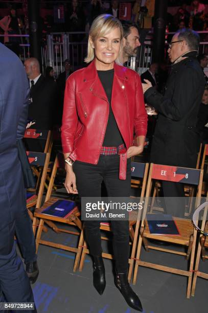 Yolanda Hadid attends the Tommy Hilfiger TOMMYNOW Fall 2017 Show during London Fashion Week September 2017 at The Roundhouse on September 19 2017 in...