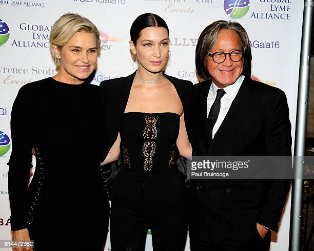 Yolanda Hadid Bella Hadid and Mohamed Hadid attend the Global Lyme Alliance's Second Annual United for a Lyme Free World Gala at Cipriani 42nd Street...