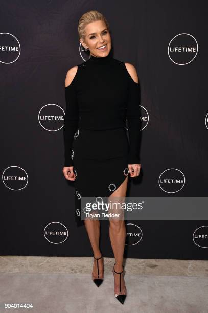 Yolanda Hadid celebrates her birthday and the premiere of her new Lifetime show 'Making A Model With Yolanda Hadid' with friends and family on...