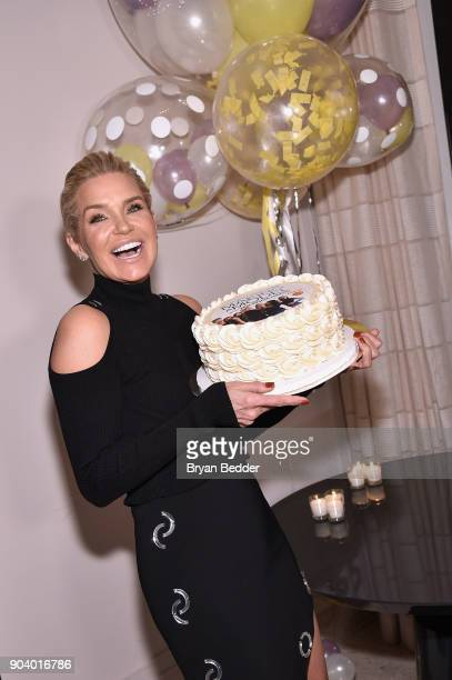 Yolanda Hadid celebrates her birthday and the premiere of her new Lifetime show 'Making A Model With Yolanda Hadid' with friends and family in New...