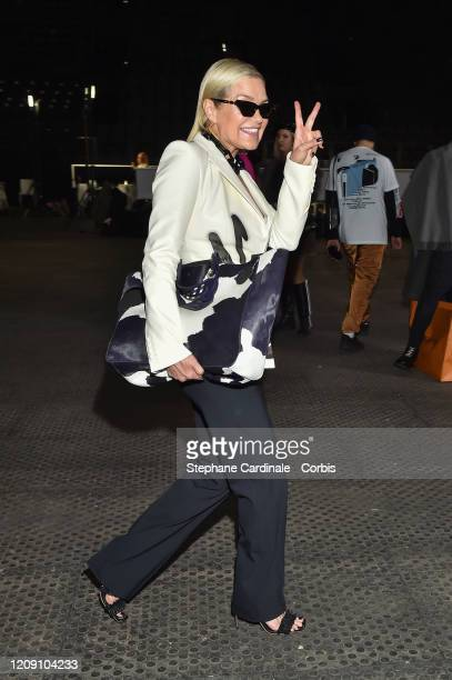 Yolanda Hadid is seen backstage before the Off-White Womenswear Fall/Winter 2020/2021 show as part of Paris Fashion Week on February 27, 2020 in...