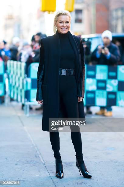 Yolanda Hadid is seen in NoHo on January 10 2018 in New York City