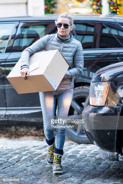 Yolanda Hadid is seen in NoHo on January 7 2018 in New York City
